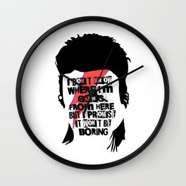 I Promise It Won't Be Boring Wall Clock