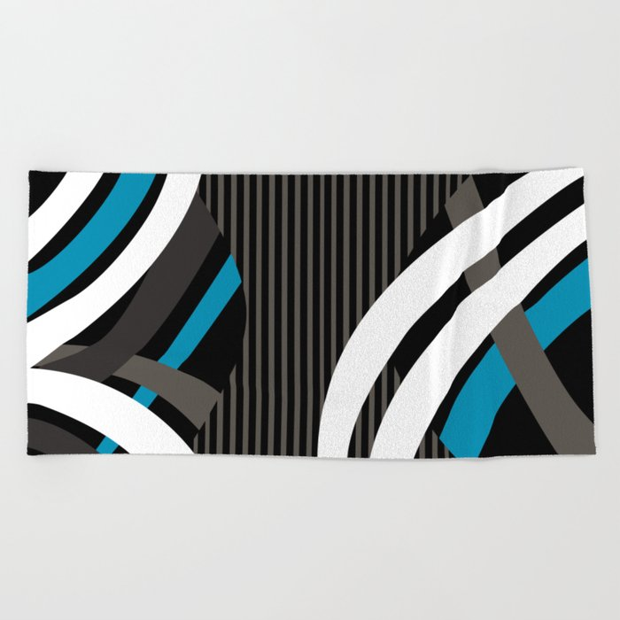Wired Blue Beach Towel