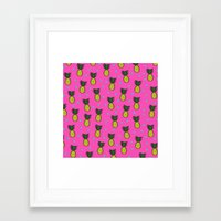 pineapples Framed Art Prints featuring Pineapples by Sandra Arduini