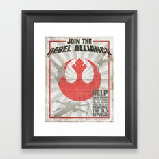 Join the Rebel Alliance Framed Art Print