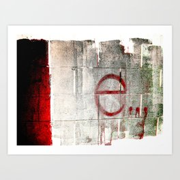 e is for enough Art Print
