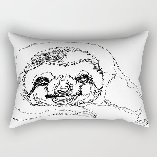 Lazy Slothurday Rectangular Pillow