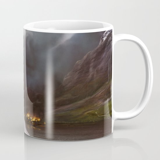 Smaug Burns Lake-Town Mug