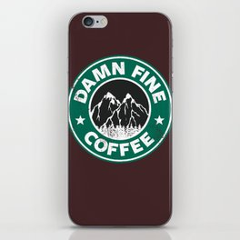 Damn Fine Coffee iPhone Skin