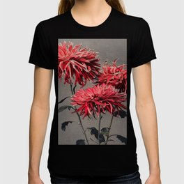 Red Flower Traditional Japanese Flora T-shirt