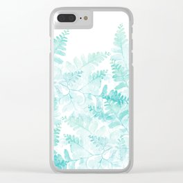 Ferns Rising Clear iPhone Case