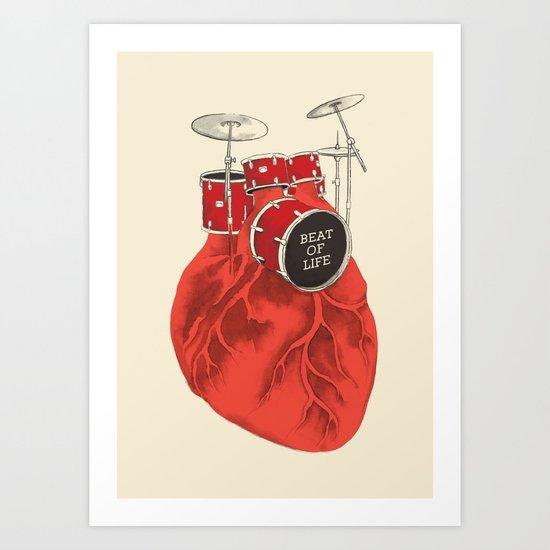 Beat of Life Art Print