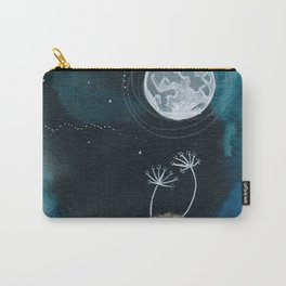 Moon Series #11 Watercolor + Ink Painting Carry-All Pouch