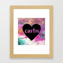 carb love fluid painting. Framed Art Print