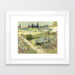 Vincent Van Gogh : Garden at Arles Framed Art Print