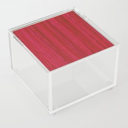 Strawberry Colored Vertical Stripes Acrylic Box