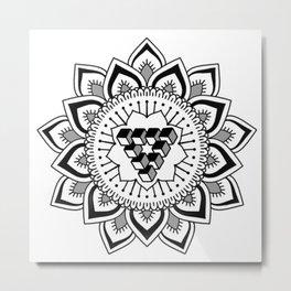 Simple mandala Metal Print