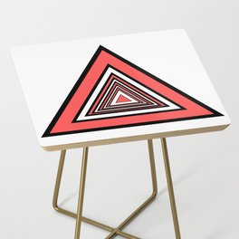 Red Black White Triangles Side Table