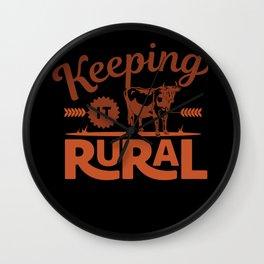Keeping it Rural - Farm Style Wall Clock