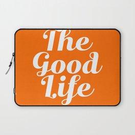 The Good Life - Orange and white Laptop Sleeve