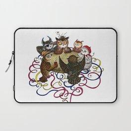 Art School Owl Assembly Laptop Sleeve