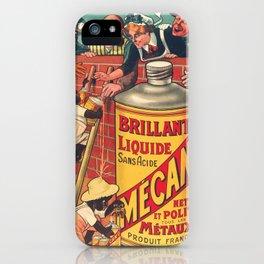 Vintage poster - Brilliant Liquide Mecano iPhone Case