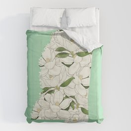 Mississippi in Flowers Comforters