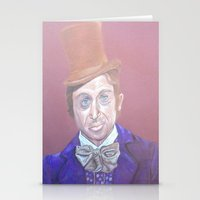 willy wonka Stationery Cards featuring Willy Wonka by gabrielle gordon