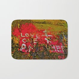 "Message Fading Daily, ""Love One Another"" Bath Mat"
