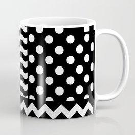 Mixed Patterns (Horizontal Stripes/Polka Dots/Wavy Stripes/Chevron/Checker) Coffee Mug