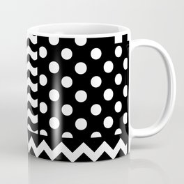 Mixed Patterns (Horizontal Stripes/Polka Dots/Wavy Stripes/Chevron/Checker) Coffee Mug