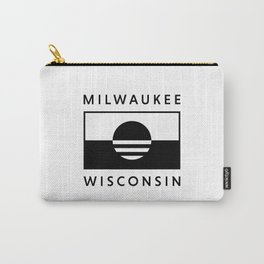 Milwaukee Wisconsin - White - People's Flag of Milwaukee Carry-All Pouch