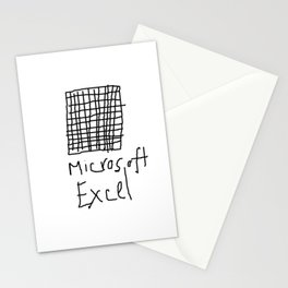 Microsoft Excel Stationery Cards