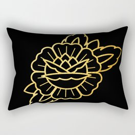 Gold Traditional Rose Rectangular Pillow