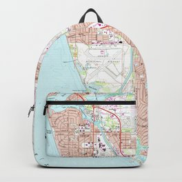 Venice Florida Map (1973) Backpack