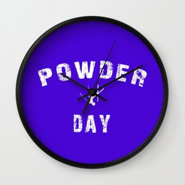 Powder Day Wall Clock