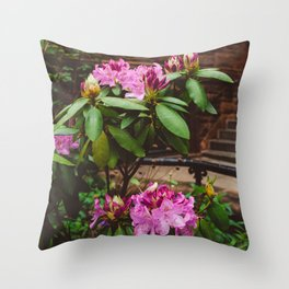 Brooklyn Heights Blooms Throw Pillow