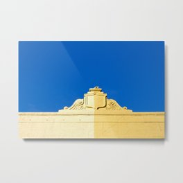 Blue Sky and 2 Yellows Metal Print