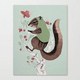 Squirrel Green Hood Canvas Print