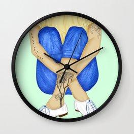 Tattoo nature fashion girl Wall Clock