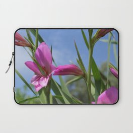 Pink Flowers - Field Gladiolus Laptop Sleeve