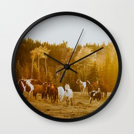 Sunset glow Wall Clock