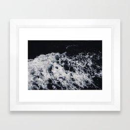 OCEAN - WAVES - SEA - ROCKS - DARK - WATER Framed Art Print