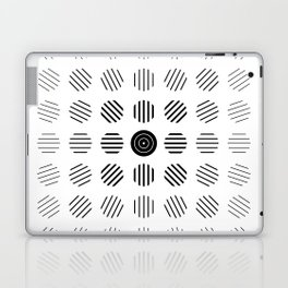 Black and White centered lines Laptop & iPad Skin