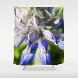 Lupine Flower Photography Print Shower Curtain