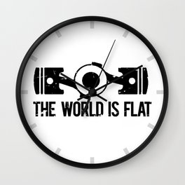 The World is Flat - Flat Engine Wall Clock