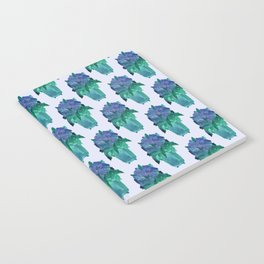 lavender flower vase pattern Notebook