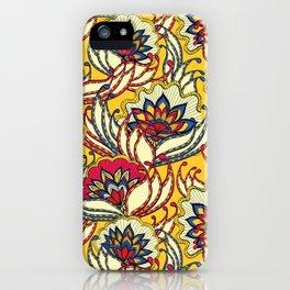 Vintage Lotus Flowers iPhone Case