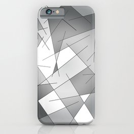 ABSTRACT LINES #1 (Grays & White) iPhone Case