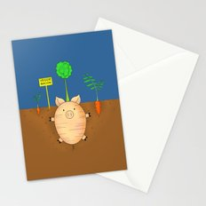 Veggie bacon Stationery Cards