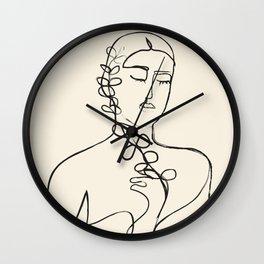 Minimalist Abstract Woman II Wall Clock