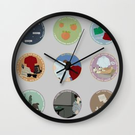 CALL MY BY YOUR NAME: A MINIMALIST LOVE STORY Wall Clock