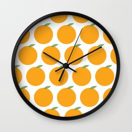 Syracuse, New York Orange Wall Clock
