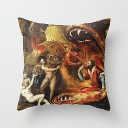 Demons and creatures Throw Pillow