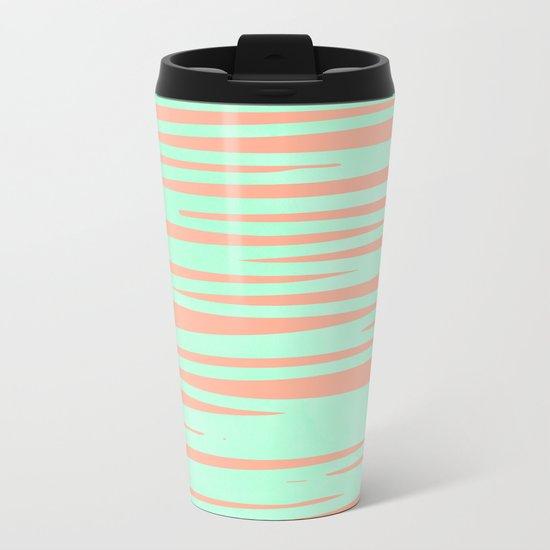 Sweet Life Soft Serve Peach Coral + Mint Meringue Metal Travel Mug